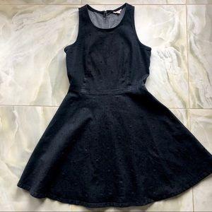 GAP Denim Mini Skater Dress with Polka Dots